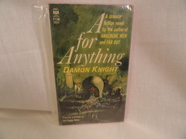 A For Anything Paperback Book Berkley F1136 Damon Knight 1965 - $2.49