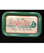 1992 Coca Cola Tray Green Soda Fountain 1906 Sampling Coupon - $9.99