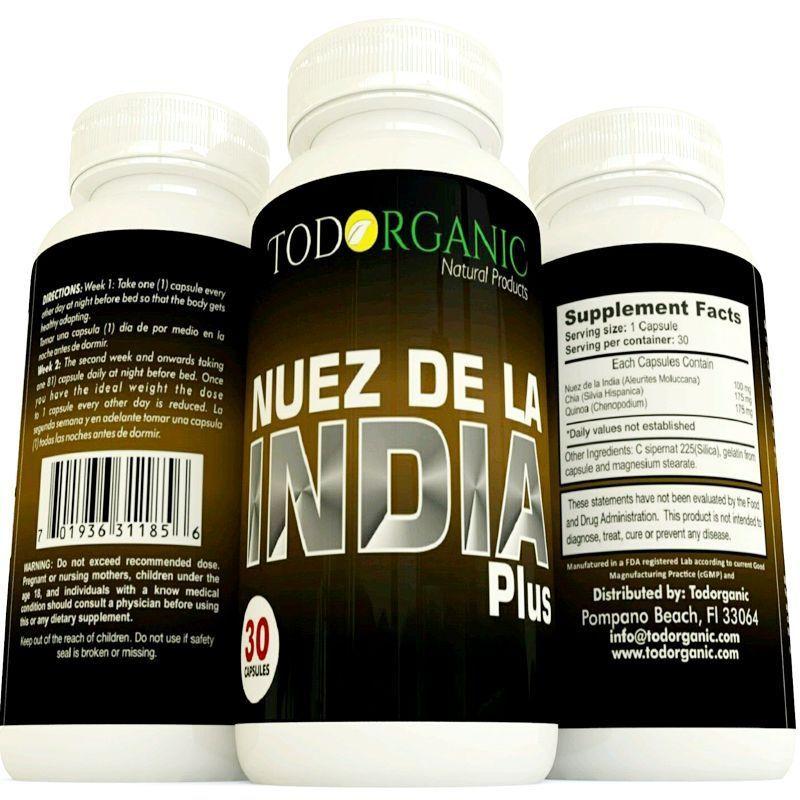 NUEZ DE LA INDIA Pastillas para Bajar de Peso 100% Natural