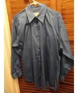 Blue Pronto-Uomo Mens Long Sleeved Dress Shirt 16 1/2 32-33 - $12.49