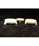 3 White Vintage Austrian Porcelain Signed Individual Salts - $9.99