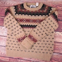 Women's Large Vintage Woolrich Hand Knitted Classic Wool Sweater - $792,16 MXN
