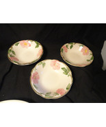 3 Desert Rose Franciscan Pottery Coupe Cereal Bowls - $14.99