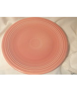 Rose Pink Fiesta Chop Plate Post 82 11.5 inches wide - $9.99