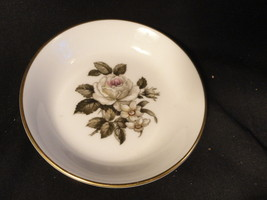 Royal Worcester Bone China Coaster Saucer Plate White Rose - $9.99