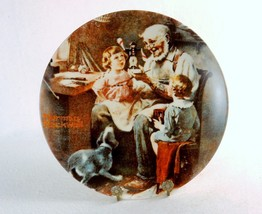 """The Toy Maker"" ~ Rockwell Society Collector Plate by Knowles China Co, ... - $14.65"