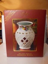 1999-2013 LENOX Holiday Tartan Pierced Candle Fragrance Warmer NEW in Box - $25.00
