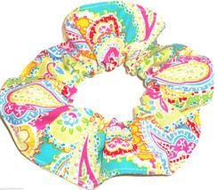 Paisley Pastal Hair Scrunchie Scrunchies by Sherry Ponytail Holder USA - $6.99