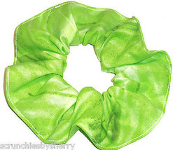 Lime Green Varigated Hair Scrunchie Scrunchies by Sherry Ponytail Holder USA - $6.99