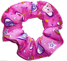 Care Bears Pink Fabric Hair Scrunchie Scrunchies by Sherry Ponytail Holder Tie - $6.99
