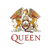 Queen shaped vinyl self cling window sticker 120mm x 105mm Freddie Mercury - $3.76