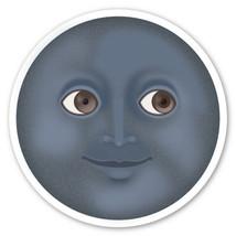 Emoji Dark Moon fully contoured vinyl sticker 100mm or 150mm iPad lunar sun - $3.00+