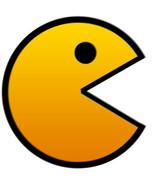 Pac-man shaped vinyl sticker 90mm Namco Atari - $3.05