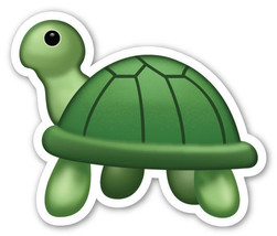 Emoji Turtle Tortoise shaped vinyl sticker 100mm or 150mm tortoise iPhon... - $3.00+
