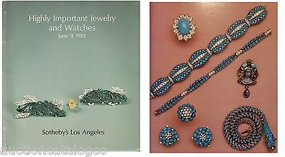 Sothebys LA catalog HIGHLY IMPORTANT JEWELRY & WATCHES June 1981 Good Color Nice