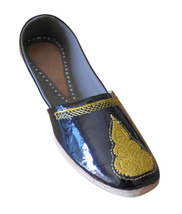 Men Shoes Indian Handmade Traditional Leather Loafers Punjabi Jutties US 8 - $39.99