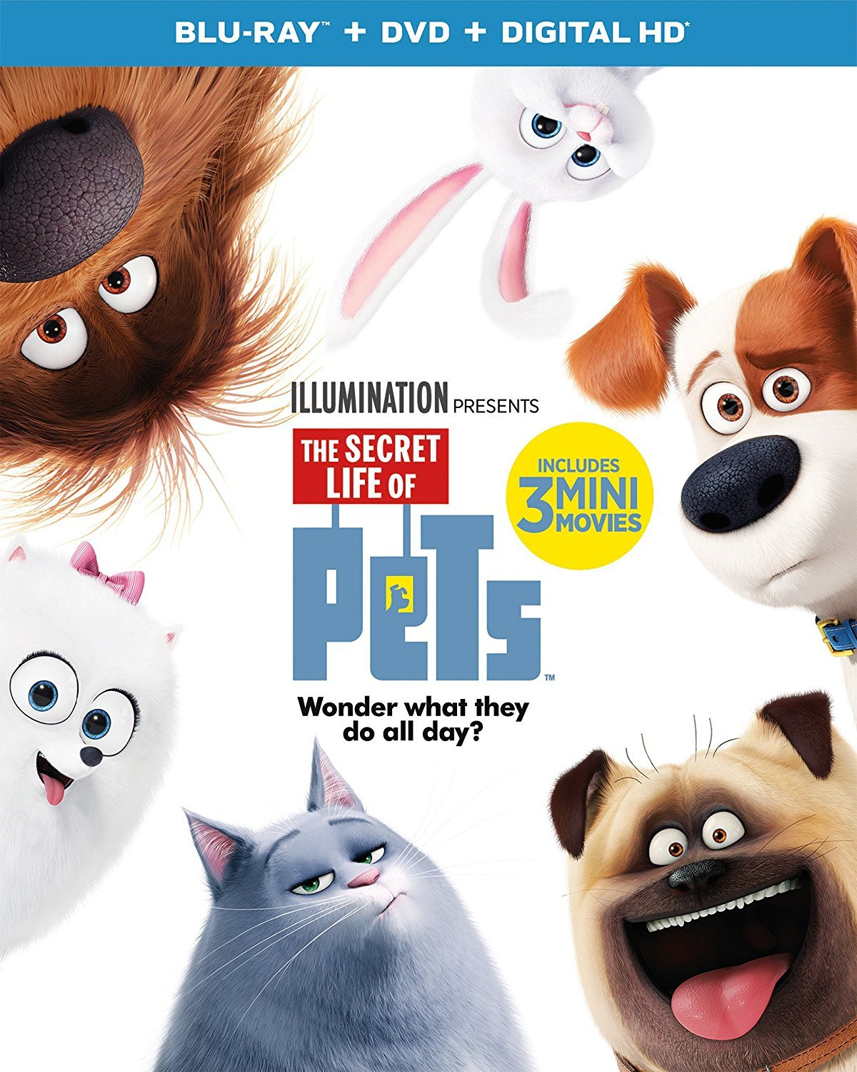 The Secret Life of Pets [2016, Blu-ray + DVD + Digital HD]