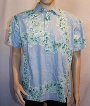Royal Palm Collection Blue and Green Hawaiian Short Sleeve Pullover Shir... - $17.98