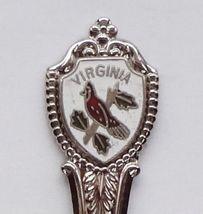 Collector Souvenir Spoon USA Virginia Cardinal Bird - $2.99