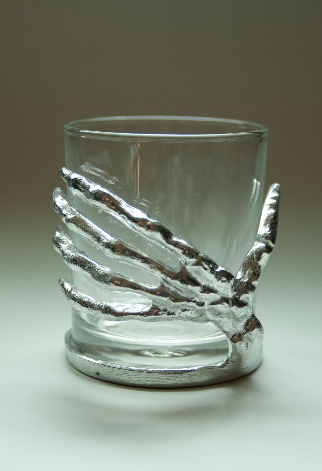 Pottery Barn Skeleton Hands Votive Glass Candle Holder