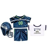 Build a Bear Workshop 4 Piece NFL Seattle Seaha... - $116.97
