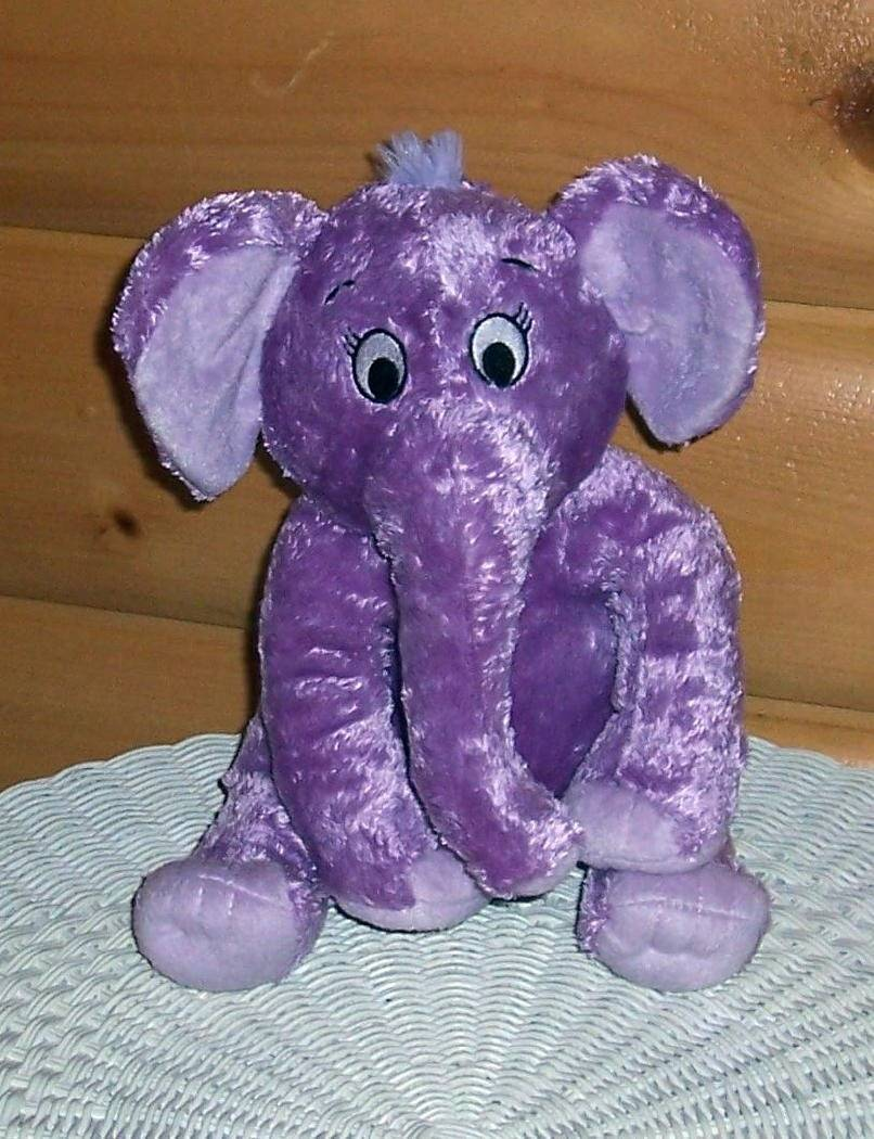 "Dr Seuss The Nose Book Purple Elephant Soft Plush 11"" Kohls Childrens Program - $7.89"
