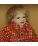 SALE Dollhouse Dressed Boy Heidi Ott HC028 red-orange check jacket Minia... - $61.94
