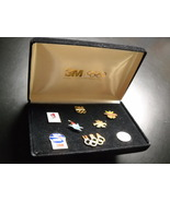 3M Olympic Pins 1992 Barcelona Albertville Eight Pins Black Lined Box Co... - $17.99