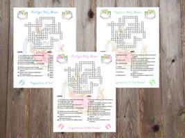 Beatrix Potter Peter Rabbit Baby Shower Custom Crossword Puzzle Puzzles ... - ₨51.40 INR+