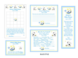 Baby Snoopy Moon and Stars Game Package #2 - Bookmarks included! - $25.00