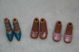 Bratz Barbie Pink Glitter Blue Pink Heels Jade Yasmin Sasha Chloe All Br... - $27.71