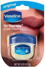 Vaseline Pure Petroleum Jelly Lip Therapy Soft Smooth Moisture Dry Lips 0.25oz - $5.93