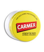 Carmex Original Lip Balm Cold Sore Chapped Moisture Dry Soothes Lips Jar... - $5.89