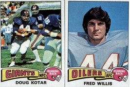 1975 Topps Football Cards (419-527) - YOU PICK THE CARD - $0.98+
