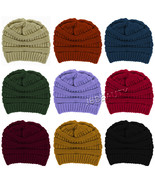 Beanie Cable Knit Slouchy Oversize Winter Caps Women Men Skull Baggy Thi... - $7.95