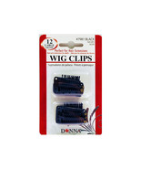 Donna Wig Clips Perfect for Hair Extensions 12pk Large #7981 Black - $3.95