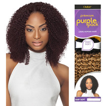 "Outre Premium Purple Pack 100% Human Hair Weave Extension Baby Soft 10"" - 14"" - $16.82+"