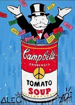 Alec Monopoly OIL PAINTING ON CANVAS Graffiti a... - $31.67