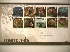 Mammals Stamps First Day Cover Complete 13.04.2010 Tallents House Mint. - $5.77