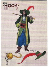 Charles Vess Fantasy Art Trading Card #68 Hook Costume Sketch - 1995 - $2.50