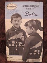 Vintage Beehive Knitting Patterns Toy Train Cardigan Sweater CHILDREN 2 ... - $5.99