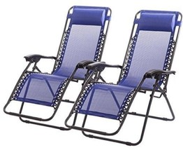 Garden Patio Furniture Set Reclining Chairs 2 Black Lounge Outdoor Yard ... - $112.80
