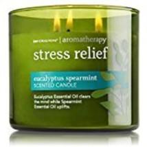 Bath & Body Works Stress Relief 3 Wick Candle 14.5 oz. Aromatherapy - $35.99