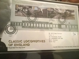 Classic Locomotives Of England First Day Cover Complete 1.02.2011 Tallen... - $5.77