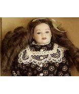 DOLLHOUSE Girl Doll Dressed HOXC035 Heidi Ott dk print Victorian Miniature - $81.70