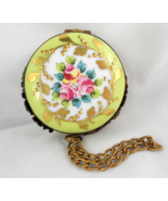 Limoges Box - Floral Pocket Watch with Clock In... - $135.00