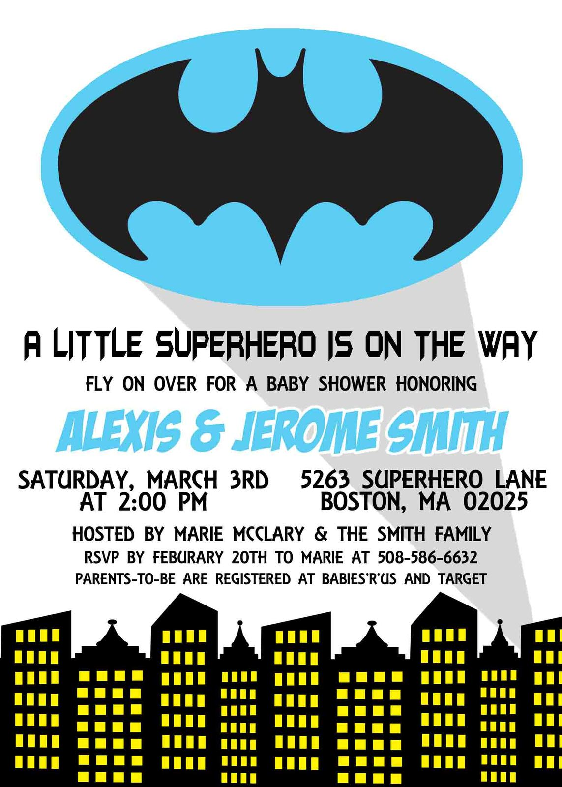 Batman Baby Shower Invitation