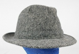 VTG Adam New York Grey Check Fedora Hat Cap Wool USA Sz L 7 1/4 - 7 3/8 - €18,50 EUR