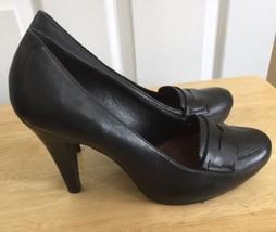 Gianni Bini Black Leather Women's Heels Size 9.5 - $70.13
