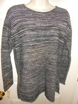 Ellen Tracy sz XL pullover twill sweater Ladies hi/low design - $7.43
